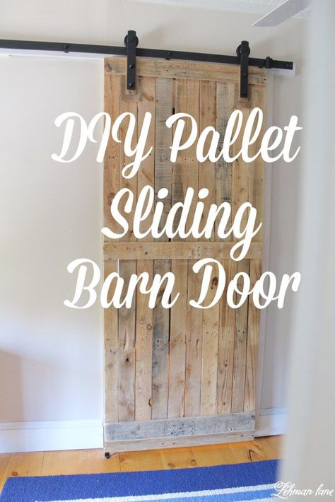 DIY: Pallet Sliding Barn Door A pallet barn door adds a lot of character saves space looks amazing and is cheap and easy to make! Learn how to make yours today! The post DIY: Pallet Sliding Barn Door appeared first on Pallet Diy. Unique Home Decor, Home Decor Items, Cheap Home Decor, Diy Home Decor, Pallet Door, Pallet Barn, Pallet Cross, Diy Pallet Projects, Home Projects