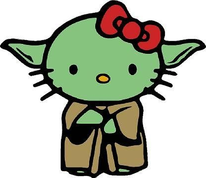 Yoda Hello Kitty Car Window Wall Macbook Notebook Laptop Sticker Decal. For product info go to: https://www.caraccessoriesonlinemarket.com/yoda-hello-kitty-car-window-wall-macbook-notebook-laptop-sticker-decal/
