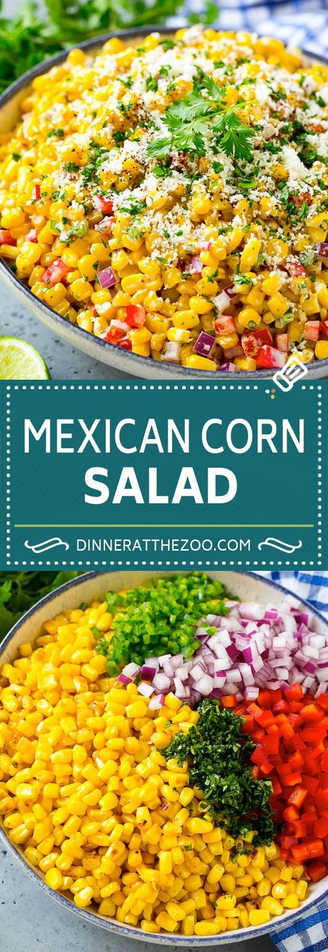 Mexican Corn Salad Recipe | Corn Salad Recipe | Mexican Street Corn #corn #salad #mexican #glutenfree #side #dinneratthezoo