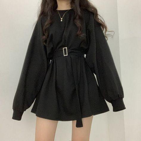 20.47US $ 36% OFF|2020 Spring Summr Long Sleeves Female Dresses O Collar Korean Fashion Loose Plus Size Oversized Women Dress Tide Female Vestidos|Dresses|   - AliExpress