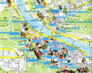Salzburg Christmas Market Map.Tourist Map Salzburg Austria In 2019 Austria Map