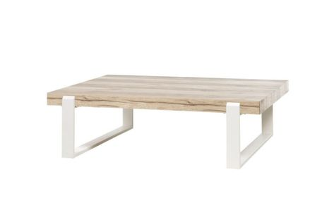 interior design:Table Blanche Et Bois Made In Table Basse ...