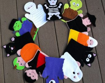 Halloween Hand Puppet Set - Adult OR Kid Size