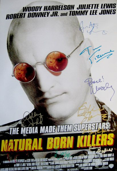 NATURAL BORN KILLERS (1994) original 27x40 movie poster signed by