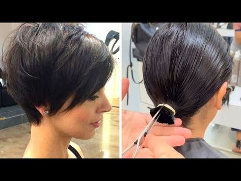 Discover recipes, home ideas, style inspiration and other ideas to try. Haircuts For Fine Hair, Pixie Hairstyles, Short Hairstyles For Women, Sassy Haircuts, Prom Hairstyles, Diy Haircut, Pixie Haircut, Short Haircut, Short Layered Bob Haircuts