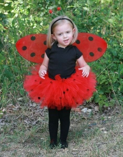 Ladybird Wings Tutu Set Red Skirt Net Girls Costume Cosplay Fancy Dress Up