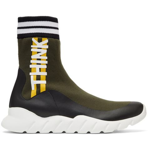 Fendi Multicolor Sock  Think Fendi  High-Top Sneakers ( 695) ❤ liked on  Polyvore featuring men s fashion 76de8fac9b77