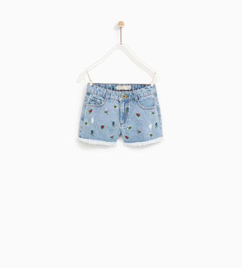 venta al por mayor buena textura Venta de descuento 2019 Image 1 of FLORAL PRINT BERMUDA SHORTS from Zara | Kids ...
