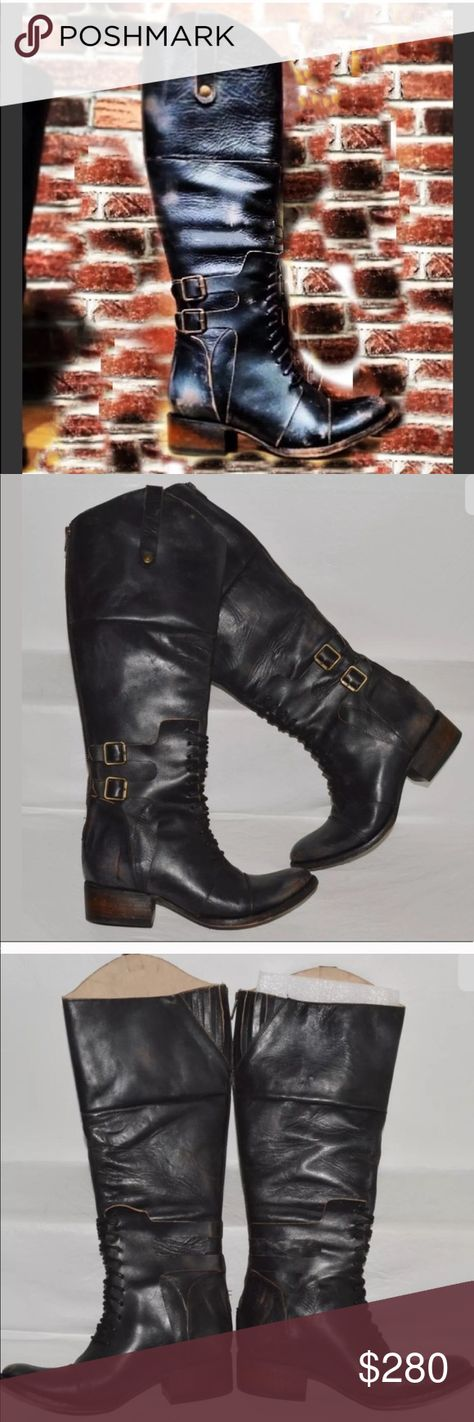 67b1057f717 Boots Freebird 8 New Sadle Saddle Black tall Moto Brand new never worn  Freebird Steve Madden