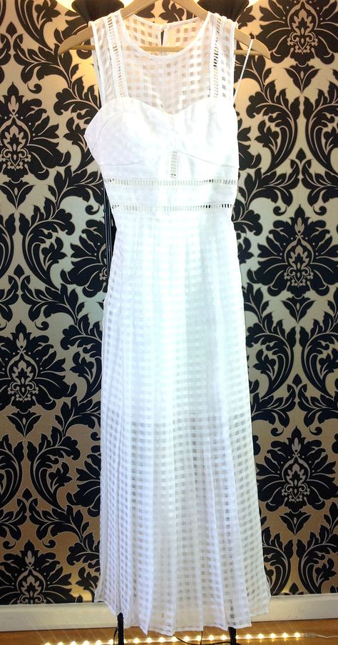This White Dress Is Size 10 12 And Sheer With Modesty Section From
