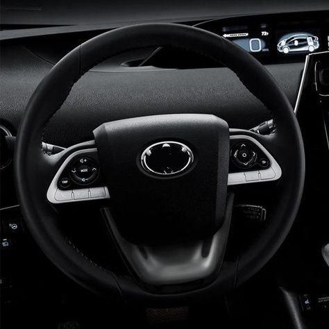 Black Car Steering Wheel Panel Garnish Trim Cover Accessories For