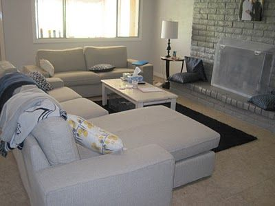 IKEA Kivik sofa with chaise and loveseat | Apartment ideas | Pinterest | Home Ikea and Living room layouts : kivik sofa with chaise - Sectionals, Sofas & Couches