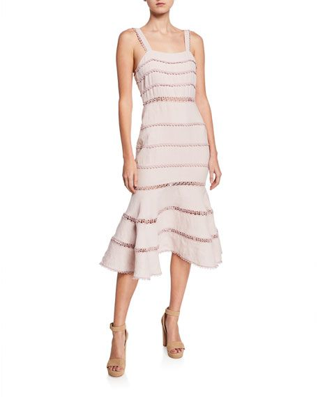 7060feb7bc3 Serra Sleeveless Fit- -Flare Midi Cocktail Dress by Saylor at Neiman Marcus