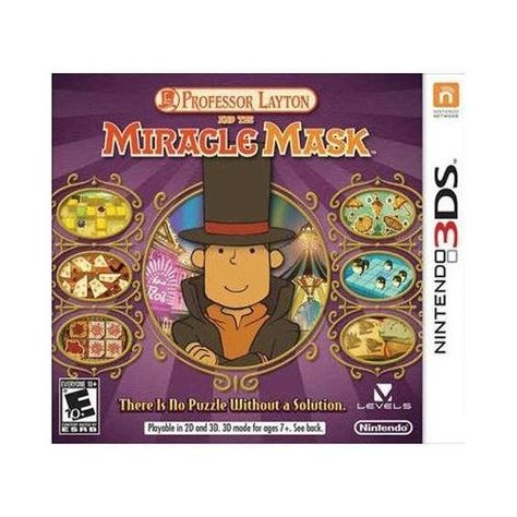 Professor Layton And The Miracle Mask The Latest In The Series I Wonder If You Can Play On The Ds Or You Have To Have Th Professor Layton Layton Nintendo 3ds