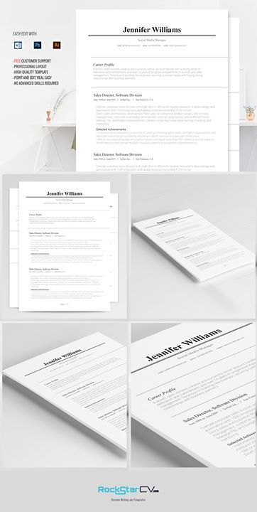 Traditional Resume Template HttpRockstarcvComProduct