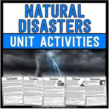 Natural Disasters Science Unit - Reading Passages and Activities! Use this resource to help your 2nd, 3rd, and 4th grade classroom or homeschool students learn all about natural disasters. Topics include tornadoes, hurricanes, earthquakes, volcanoes, tsunamis, landslides, and MORE! Great for your next science lesson plan or unit. {second, third, fourth grader}