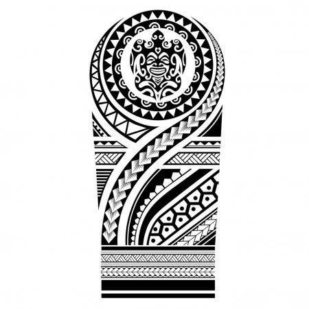 Polynesian Tattoo Sleeve Shoulder Pattern Vector Samoan Template Forearm And Foot Design Maor In 2020 Polynesian Tattoo Sleeve Maori Tattoo Designs Polynesian Tattoo