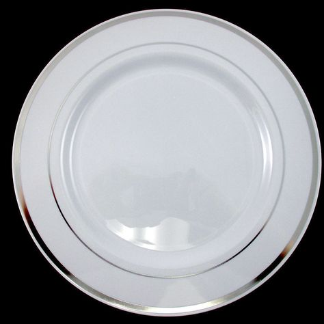 Details About Wedding Party Disposable Plastic Dinnerware Plates