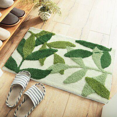 Simple Geometric Pattern Rug Thick Flocking Door Mats Absorbent Non-Slip Carpet