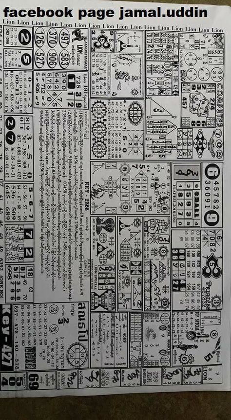 Get the Thai Lottery Bangkok Lion Paper For 16-04-2018  This is the