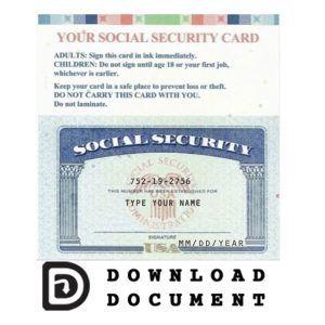 Social Security Card 17 Social Security Card Visiting Card Templates Card Templates Free