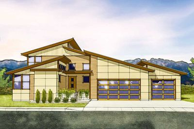 Plan 737000lvl Ultra Modern Beauty With Images Modern Contemporary House Plans Modern House Plans Shed House Plans
