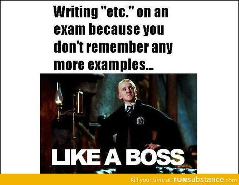 Writing Etc On An Exam