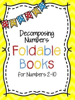 Decomposing Numbers Foldable Books