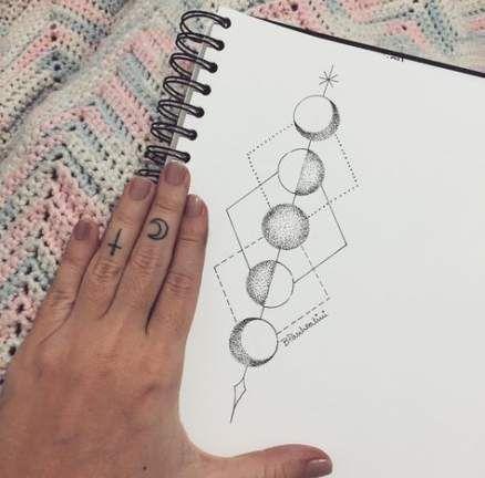 Drawing moon phases tattoo ideas 18 Ideas #drawing #tattoo