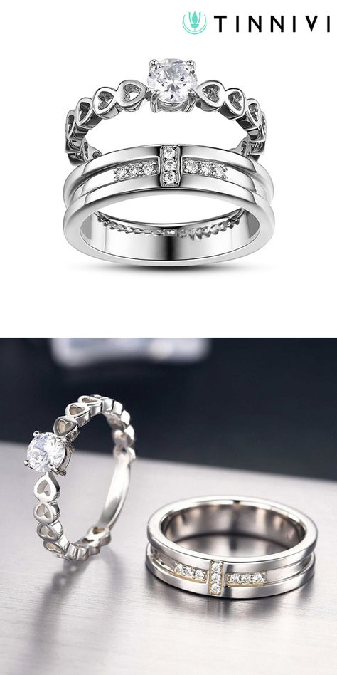 3d6b81e055 Shop Round Cut Gemstone 925 Sterling Silver Promise Rings For Couple  online, Tinnivi Jewelry creates quality fine jewelry at gorgeous prices.  Shop now!