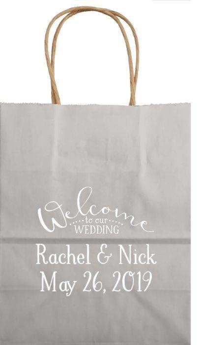 8 X 10 Kraft Wedding Hotel Gift Bags Set Of 25