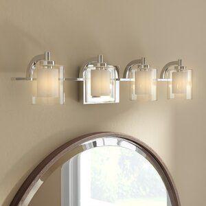 Hans 4 Light 16 Unique Statement Geometric Flush Mount In 2020 Vanity Lighting Bathroom Vanity Lighting Glass Diffuser