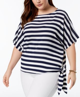 popular stores reputable site new release Plus Size Striped Side-Tie Blouse | Plus Size Clothing, Many ...