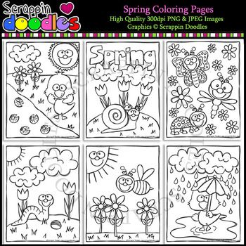 Spring Coloring Pages  Spring coloring pages, Coloring pages