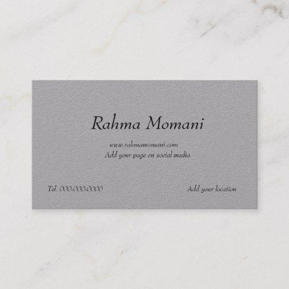 Gray Business Card Zazzle Com Business Template Printing Double Sided Place Card Holders