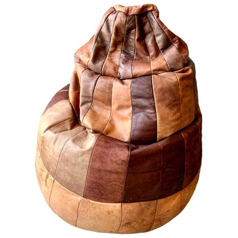 Remarkable De Sede Leather Patchwork Bean Bag Swiss Chair Products In Ibusinesslaw Wood Chair Design Ideas Ibusinesslaworg