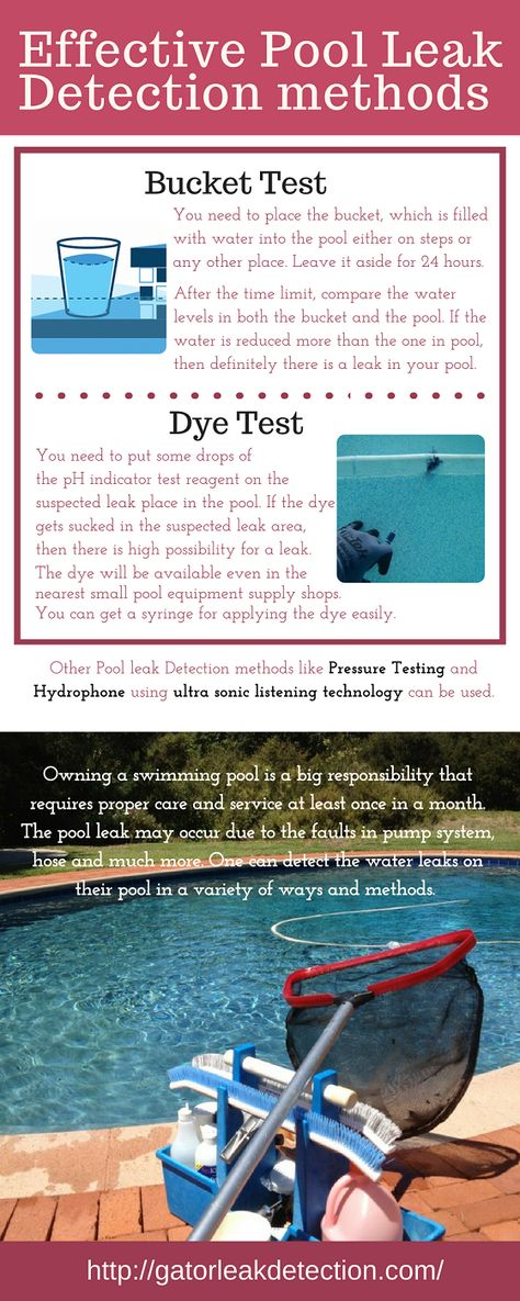 Pool Leak Detection Pool Care Pool Landscaping Tips