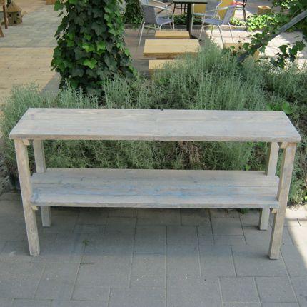 Steigerhouten Sidetable Koog.Steigerhout Sidetable Koog Garten Rustikal Und Garten