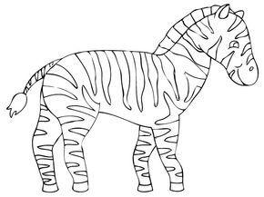Coloriage Zebre Coloriage Animaux De La Savane Coloriage Zebre