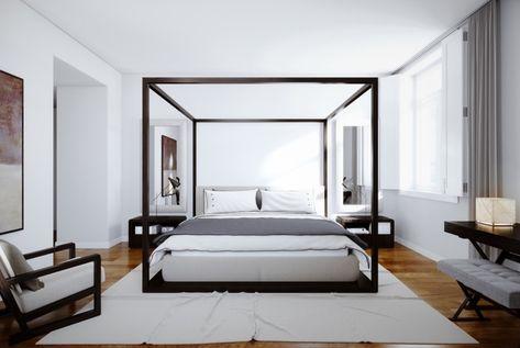Camera Da Letto Rovere Bianco : Struttura letto legno colore rovere pavimento legno tappeto bianco