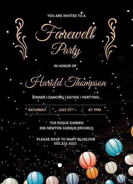 Farewell Invitation Farewell Party Invitations Farewell