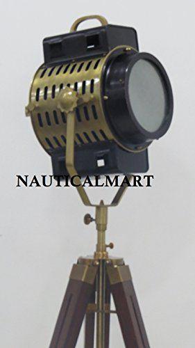 NauticalMart Antique Designer Floor Lamp Spot Light Searc