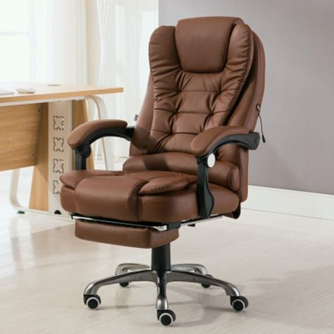 Home Office Computer Desk Boss Massage Chair With Footrest Armrest Pu Leather Adjustable Reclining Leather Chair Cheap Office Chairs Home Office Computer Desk
