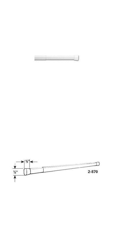 Curtain Rods And Finials 103459 Graber Oval Spring Tension