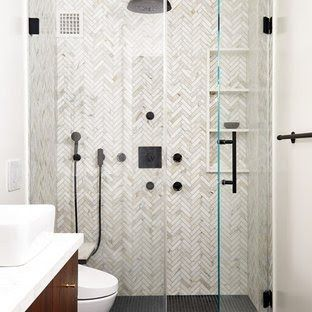 75 Beautiful Marble Tile Bathroom Pictures Ideas Houzz Chic Stylish Marble Bathroom Ideas And In In 2020 Marble Bathroom Marble Tile Bathroom Beautiful Bathroom Decor