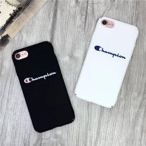 £2.99 GBP - For Iphone X 6 7 8 Plus Fashion Champion Pattern Letter Hard Plastic Phone Case #ebay #Electronics