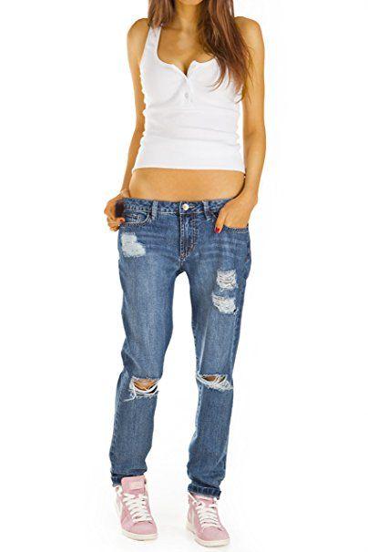 Replay Katewin Jeans Hose Pants Röhrenjeans Damen Slim Fit Stretch Denim Used