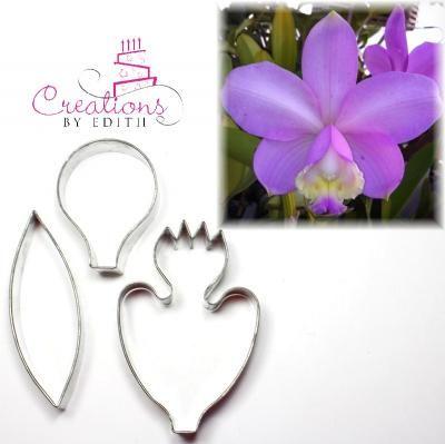 Cattleya Orchid Cutter 3 Flower Tutorial Orchids Fondant Flower Tutorial