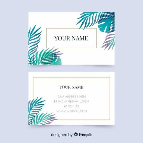 Скачивайте Шаблон визитки с цветами бесплатно