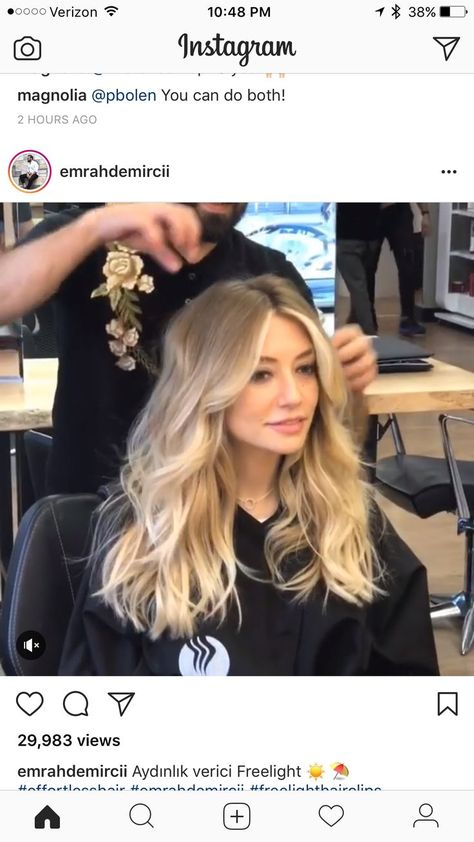 Perfect blonde balyage